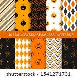 ten halloween different... | Shutterstock .eps vector #1541271731