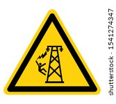 warning hazardous voltage above ... | Shutterstock .eps vector #1541274347