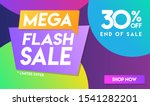 30 percent off mega flash sale... | Shutterstock .eps vector #1541282201