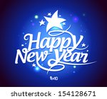 new year card design template.... | Shutterstock .eps vector #154128671