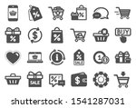 shopping wallet icons. gift ... | Shutterstock .eps vector #1541287031