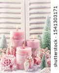 Pink Christmas Candle For...