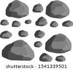 set of gray granite stones of... | Shutterstock .eps vector #1541339501