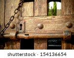 Old Wooden Door Closed