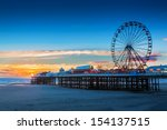 blackpool central pier and... | Shutterstock . vector #154137515