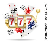 golden casino slot machine ... | Shutterstock . vector #1541377691