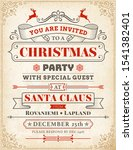 christmas party invitation with ...   Shutterstock .eps vector #1541382401