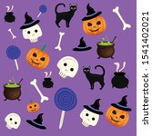 holiday halloween illustration... | Shutterstock .eps vector #1541402021