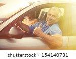 two happy smiling elderly...   Shutterstock . vector #154140731