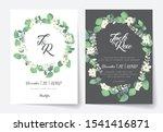 eucalyptus wedding invitation...   Shutterstock .eps vector #1541416871