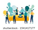 vector colorful illustration of ... | Shutterstock .eps vector #1541417177