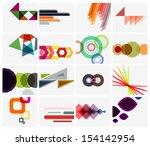 modern geometrical art... | Shutterstock .eps vector #154142954