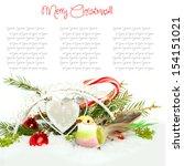 christmas decoration  fir sprig ... | Shutterstock . vector #154151021