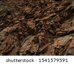 Bright Red Brown Stone...