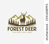 Standing Deer In Forest Logo