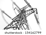 Electricity Pylon Isolated On...