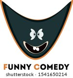 funny comedy smile the stage... | Shutterstock .eps vector #1541650214