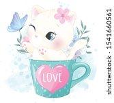 cute little kitty inside the... | Shutterstock .eps vector #1541660561