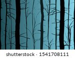 silhouettes of trees in the... | Shutterstock .eps vector #1541708111