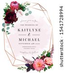 luxury fall flowers wedding... | Shutterstock .eps vector #1541728994