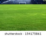 a soccer grass field is watered ... | Shutterstock . vector #154175861