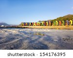 st james beach with colourful... | Shutterstock . vector #154176395