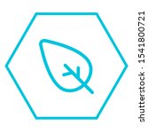 leaf icon. isolated ecology and ...