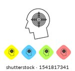 grey head hunting concept line... | Shutterstock . vector #1541817341
