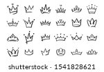 hand drawn doodle crowns. king... | Shutterstock .eps vector #1541828621