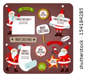 illustration with santa claus.... | Shutterstock .eps vector #154184285