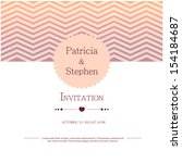 invitation or announcement card | Shutterstock .eps vector #154184687