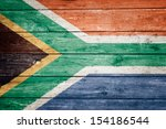 South African Flag On Wood...