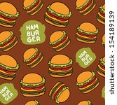 Cartoon hamburger seamless pattern