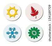vector season symbols. | Shutterstock .eps vector #154189709