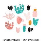 set of cactuses  succulents ... | Shutterstock .eps vector #1541900831