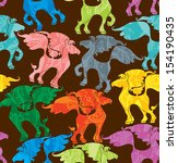 seamless pattern of colorful... | Shutterstock .eps vector #154190435