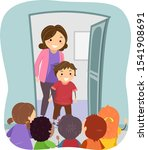 illustration of stickman kids...   Shutterstock .eps vector #1541908691