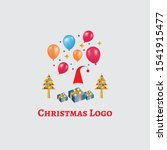 this is a christmas logo. | Shutterstock . vector #1541915477