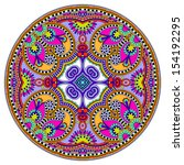 circle lace ornament  round...   Shutterstock .eps vector #154192295