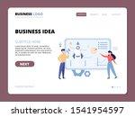 business idea website landing...