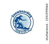 ski snowboard sport logo... | Shutterstock .eps vector #1541959064