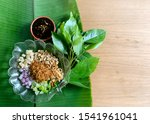 miang kham is a tasty snack of... | Shutterstock . vector #1541961041