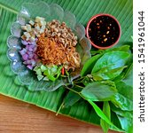 miang kham is a tasty snack of... | Shutterstock . vector #1541961044
