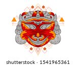ornament color full skull... | Shutterstock .eps vector #1541965361