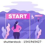 weight loss before and after... | Shutterstock .eps vector #1541965427