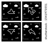 set of 4 arrow pixel perfect... | Shutterstock . vector #1541973551