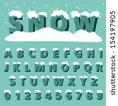 Retro Type Font With Snow ...