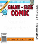 Editable Comic Book Cover!!! - stock vector