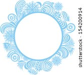winter pattern frame happy new... | Shutterstock .eps vector #154200914
