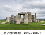 Stonehenge On A Cloudy And...